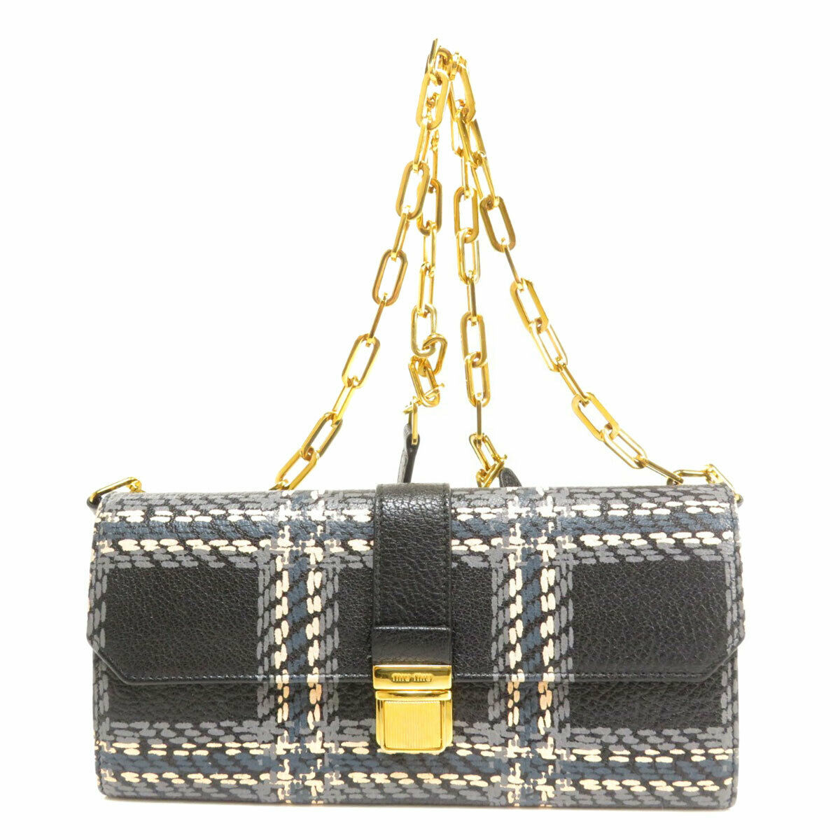 MIUMIU Long wallet (with Coin Pocket) Chain wallet Leather