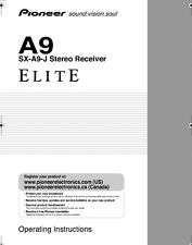 Pioneer SX-A9-J Receiver Owners Manual