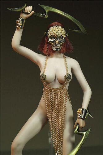Custom 1//6 Female Costume Alloy Skull Type Bracelet No Body Fit 12in PH Doll
