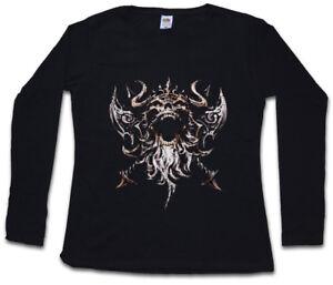 Sleeve Boat Vikings Viking Long shirt V Runes T Women Valhalla Thor Skull Odin FnqSngB