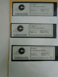 C-SQL-for-DOS-by-Coromandel-Beta-Release-1989-4-Manuals-3-floppies-5-1-4