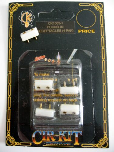 dollhouse doll house miniature CIR-KIT CK1003-1 WALL POUND-IN RECEPTACLES 4 PAC