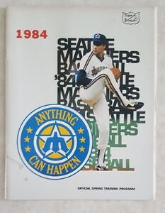 1984-SEATTLE-MARINERS-PROGRAM-SPRING-TRAINING-SCORECARD-vs-ANGELS-UNSCORED
