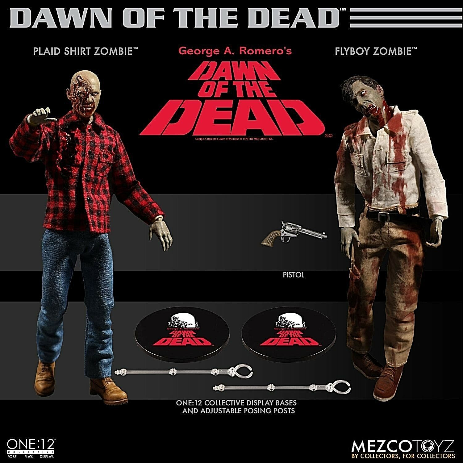MEZCO ONE 12 COLLECTIVE DAWN OF THE DEAD BOX SET