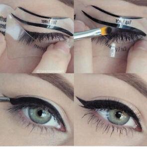 1-maquillage-Pochoirs-Cosmetique-Palette-Fard-a-Paupieres-pochoir-eyeliner-Line