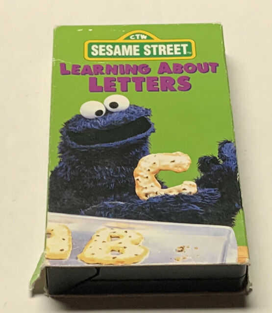 Sesame Street - Learning About Letters (VHS, 1996)Tape Excellent-Case Shelf Wear