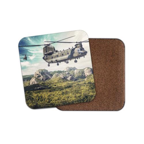 Génial Hélicoptère Chinook Coaster-avion pilote montagnes vol Cadeau #15542