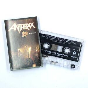 ANTHRAX LIVE The Island Years Cassette Tape 1994 Thrash Metal Rare