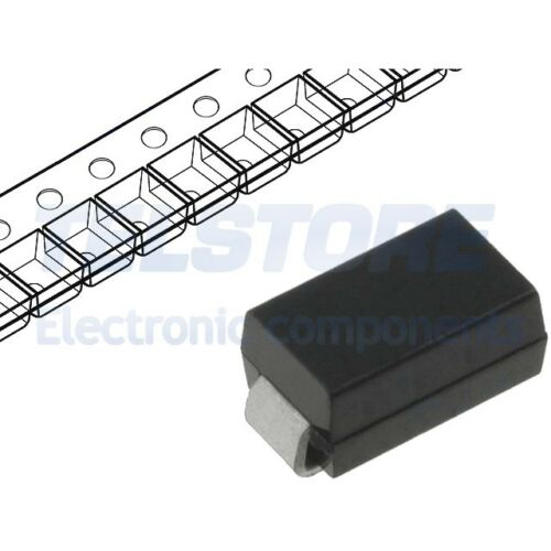 5pcs SMAJ15CA-TR Diodo transil 400W 15V 16,4A bidirezionale DO214AC ST MICROELEC