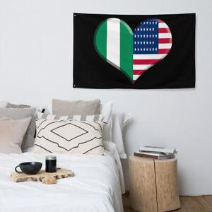 Nigerian American Flag Africa Pride American Pride African Art