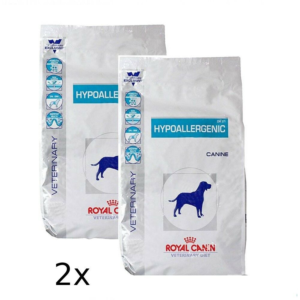 2x14kg ROYAL CANIN  Hypoallergenic DR 21 Veterinary Diet BRAVAM Blitzversand