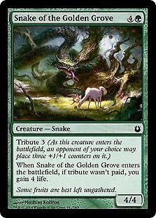 Snake of the Golden Grove 141 Born of the Gods Mtg x4 4x BNG Magic