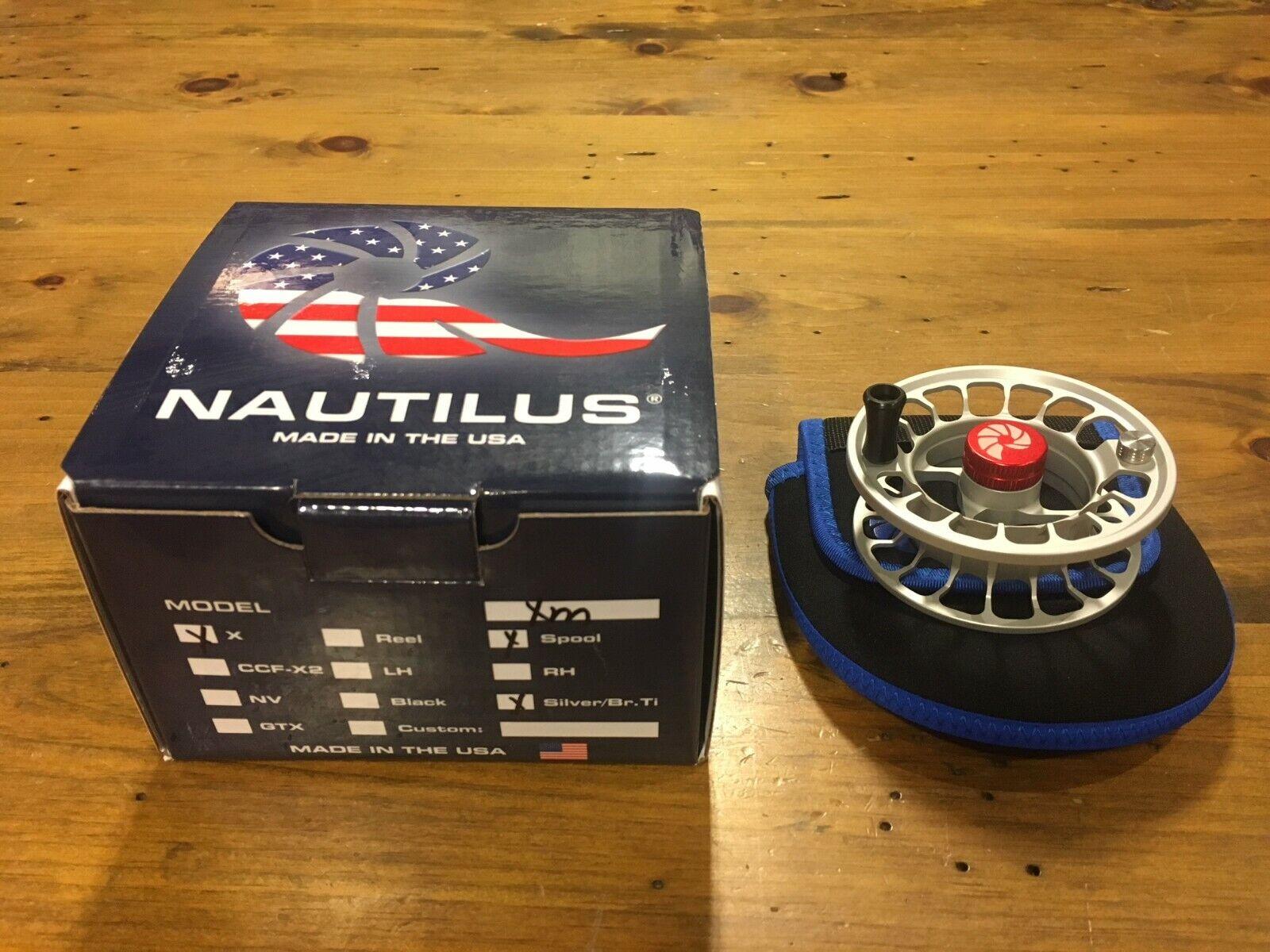 Nautilus X-Series XM Fly Reel - SPOOL ONLY - 4 5wt Titanium - FREE SHIPPING