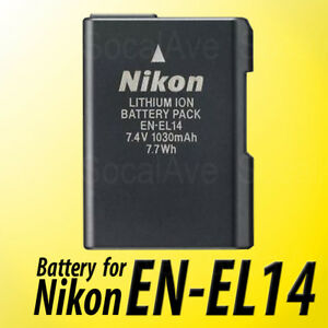 En El14 14a Battery For Genuine Nikon D3100 D3200 D3300 D5100 D5200