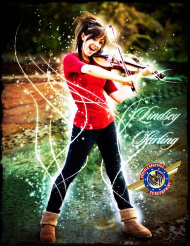 """Movie Star /"""" Personalized T-shirts Lindsey Stirling /""""Rock Star"""