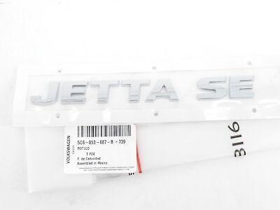 New Genuine VW Jetta Badge 2011-2018 Volkswagen OEM Rear Emblem Trunk Name Plate