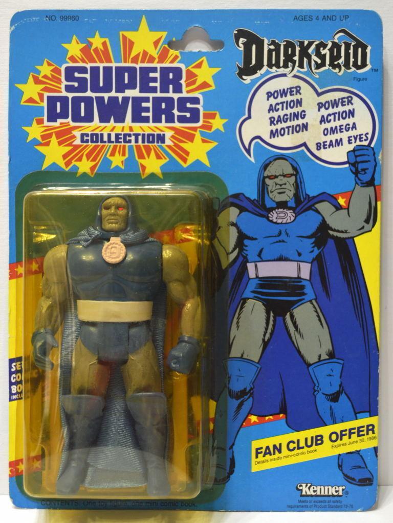 Darkseid Figura De Acción 1985 súper poderes 23 menta en tarjeta Kenner De Alta Calidad