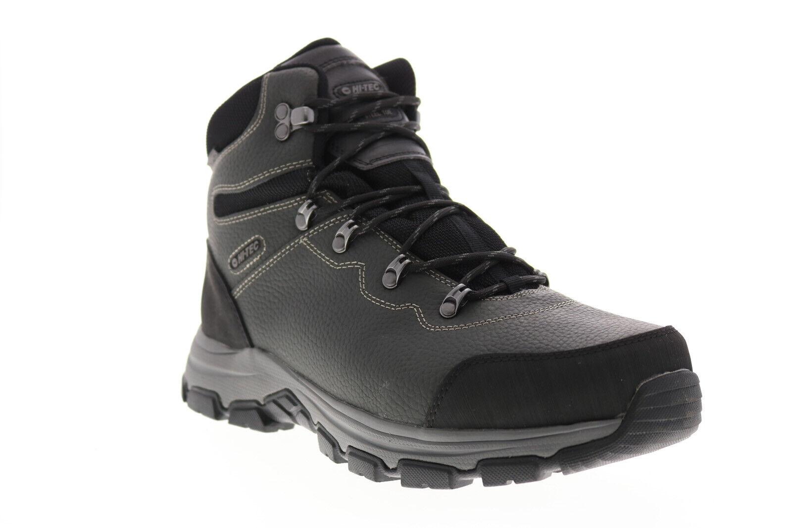 Hi-Tec Austin Waterproof Steel Toe 57047 Mens Gray Leather Work Boots