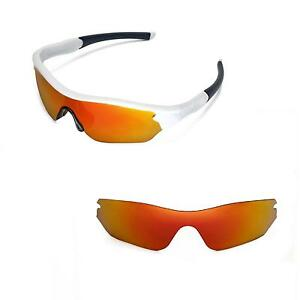 13be0fc3d30 Image is loading New-Walleva-Polarized-Fire-Red-Lenses-For-Oakley-