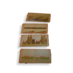 4-Antique-Photo-Stereoview-Cards-Hand-Tinted-Norway-and-Sweden