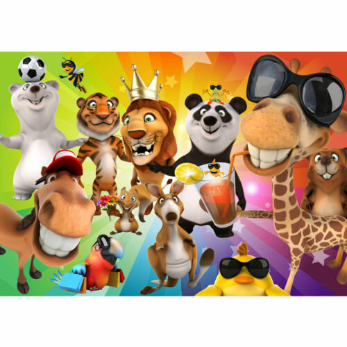88 Fototapete Kinderzimmer Zoo Tiere Safari Comic Party Dschungel liwwing no