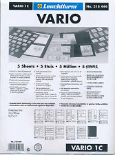 25 - LIGHTHOUSE VARIO 1C CLEAR STOCK SHEETS 5 PACKAGES OF 5