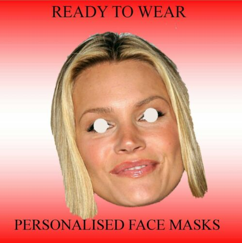 """Pronti da indossare Maschere Personalizzate Faccia 9/"""" diverse immagini come richiesto 11/"""""""