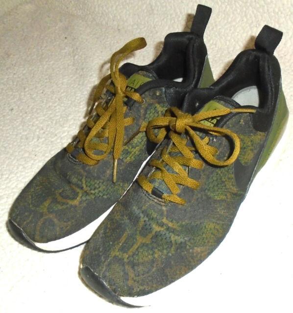 RARE Mens Nike Air Max Siren Print Green Black Snakeskin Shoes 749511 300 Size 8