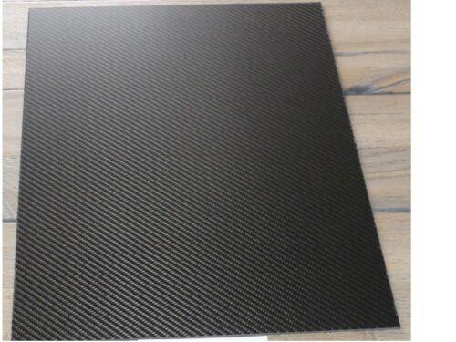 (B22) Carbon Platte CFK 2,2 mm dick; 110 mm x 420 mm 2 x Schutzfolie