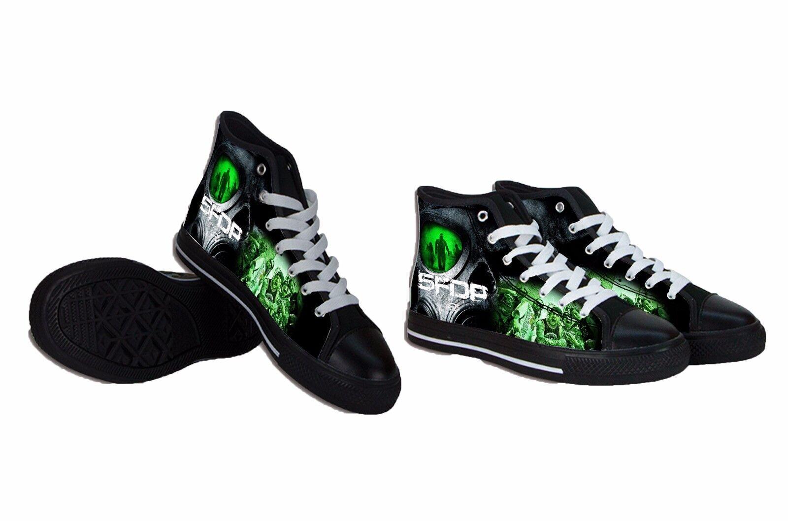 NEW Unique Five Finger Death Punch METAL BAND Canvas Mens Shoes RARE ITEMS