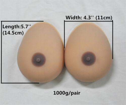 Silicone Breast Form Fake Full Boobs Mastectomy TV Bikini Crossdresser Cup A-K