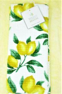 """Deborah Connolly 100/% Cotton Beautiful Set Of 2 Kitchen Towels 19 X 28/"""" Lemon"""