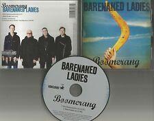 BARENAKED LADIES Boomerang w/ 2 RARE MIXES 2013 PROMO Radio DJ CD Single USA
