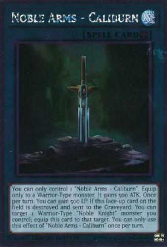 Platinum Rare NM Noble Knights of the NKRT-EN021 5x Noble Arms Caliburn