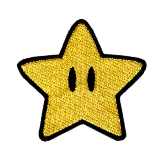 1 Star Iron on Sew Patch Applique Badge Embroidered Biker Motor Cute Biker Super