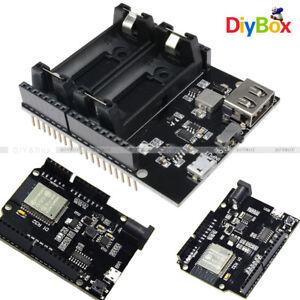 Details about WiFi Bluetooth Devolopment Board ESP32 CH340 ESP8266 16340  Battery Power Shield