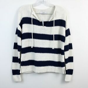 NEW-Ann-Taylor-LOFT-Striped-Heavy-Knit-Pullover-V-Neck-Sweater-Womens-Size-XS