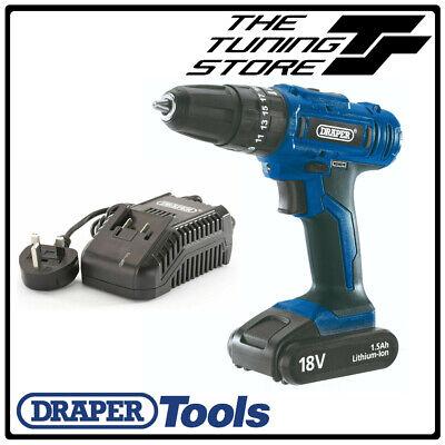 Draper 20890 18V Cordless Impact Hammer Drill Kit with HSS /& Masonry Drill Bits