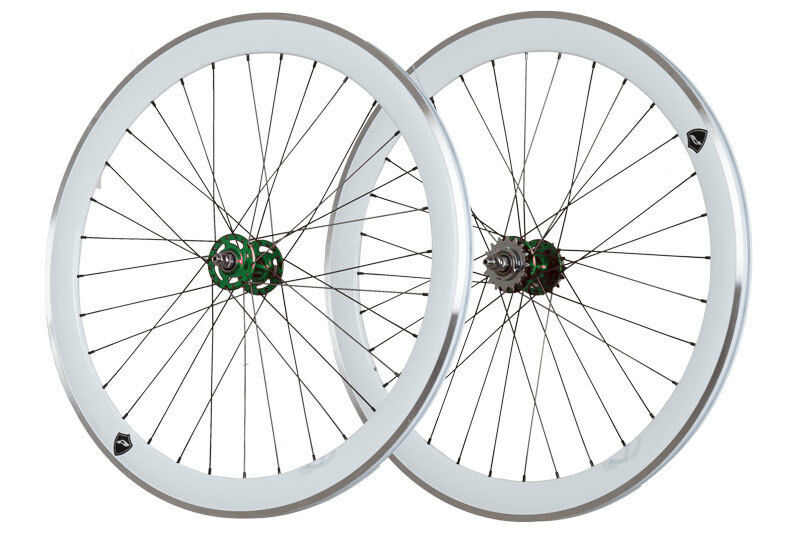 28  bahnrad ruedas novatec fixie verde Aero Weiss-Road lrs1400020