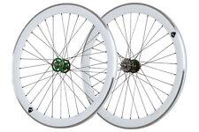 "28"" Bahnrad Laufradsatz Novatec Fixie grün/ Aero weiss - Road LRS1400020"