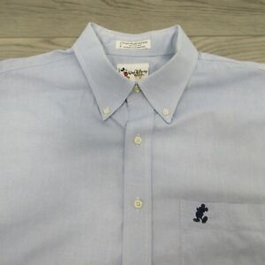 Walt Disney World Men's Oxford Shirt Size XL Button Down Mickey Pocket Blue
