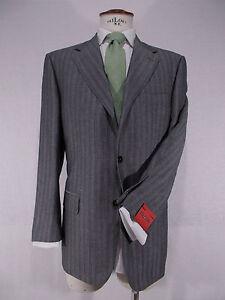 Caricamento dell immagine in corso ISAIA-abito-uomo-sartoriale-LANA-LINO- grigio-SUIT- 72b3fd078d6