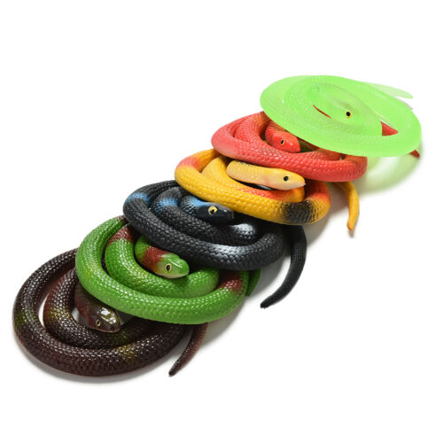 1 Pcs Simulation Snake Rubber Fake Funny April Fool Joke Funny Gags Trick Toy/_DM