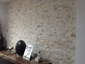 Image Is Loading Cream Quartz Maxi Sparkle Split Face Wall Cladding