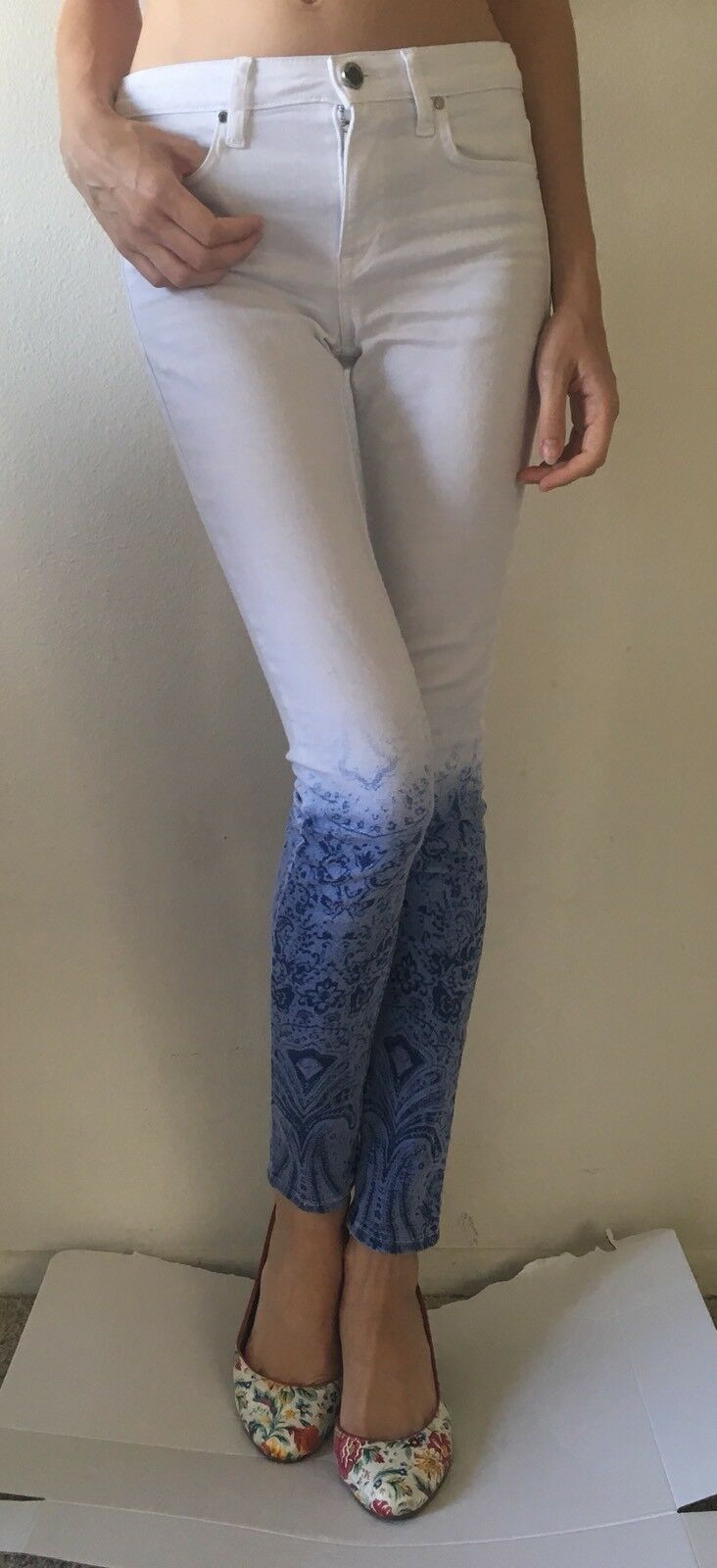 Marciano Los Angeles OMBRE MID-RISE SKINNY JEANS Size  24 Made In USA