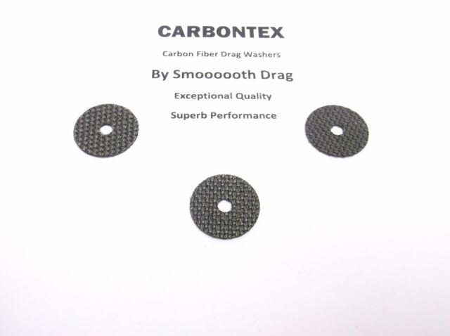 3 Smooth Drag Carbontex Washers #SDS80 SHIMANO REEL PART Sienna 4000FB
