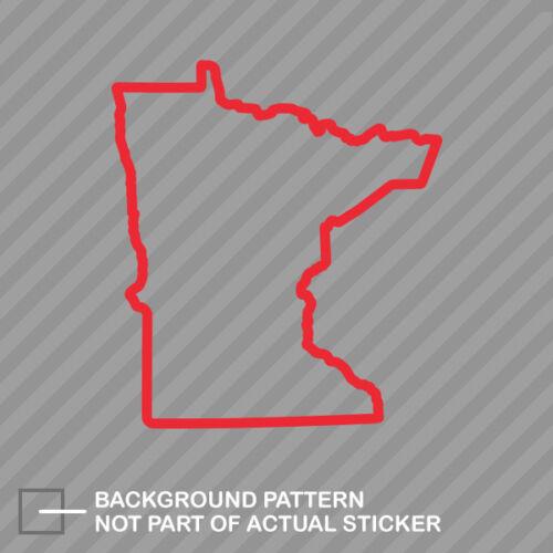 Minnesota Outline Sticker Die Cut Decal MN