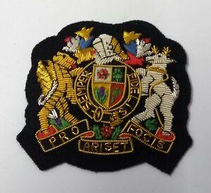 Genuine British Army Senior Warrant Officer Gold Wire Braided Rank Badge ASPS286
