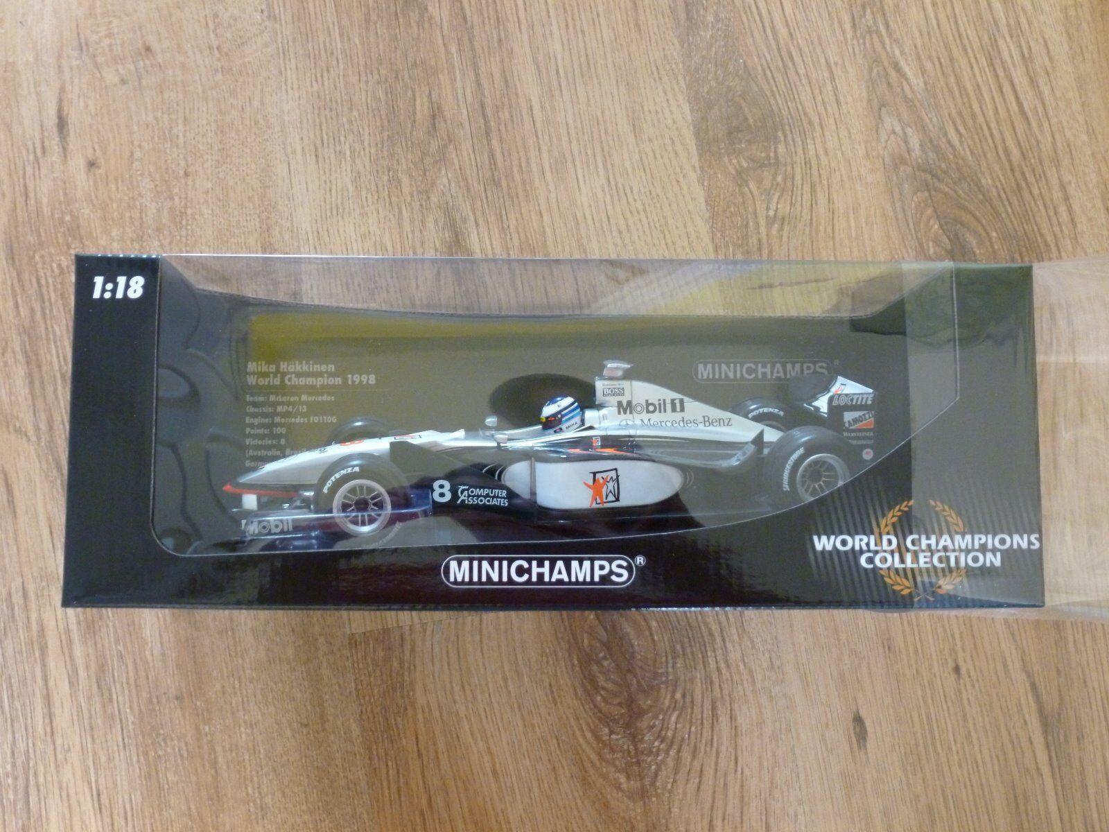 MINICHAMPS 18th McLaren MP4 13 Hakkinen World Champion 98