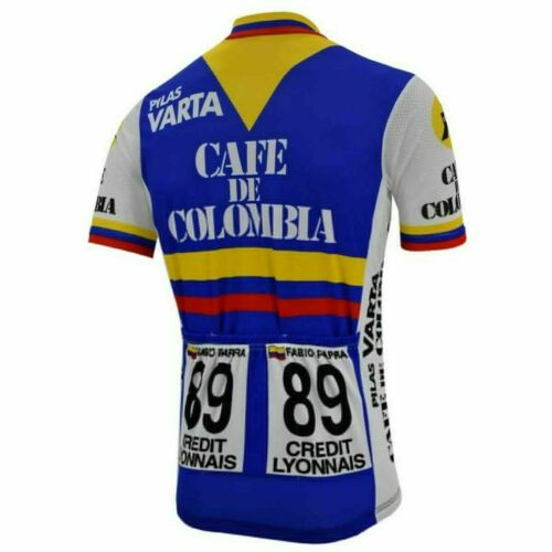 Retro Cafe De Colombia Cycling Jersey